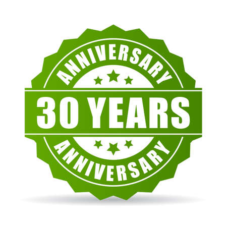 lifecycle: 30 years anniversary vector icon