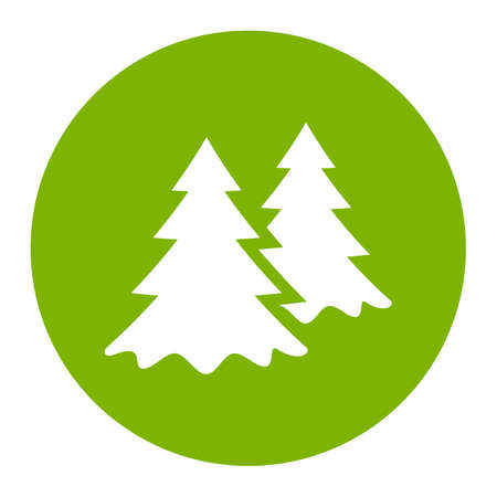 Green park or forest vector icon Illustration