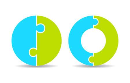Round puzzle diagrams