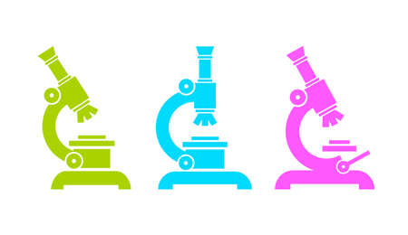 Microscope vector pictogram Illustration