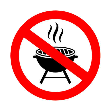 No grill vector sign