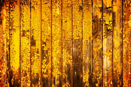 old photo: Old yellow painted wood background