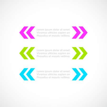 Text brackets for citation, vector design element