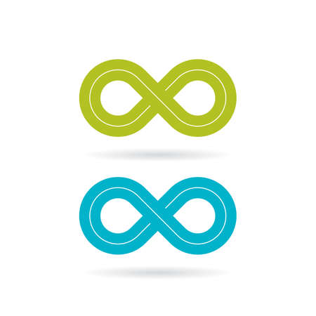 Loop infinity vector symbol Illustration
