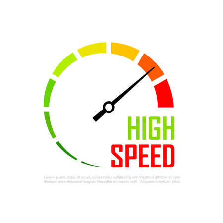 metering: Speed metering infographics vector icon