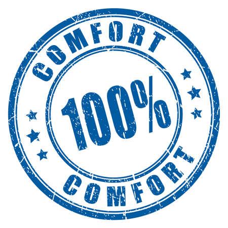 Comfort guarantee rubber stamp Çizim