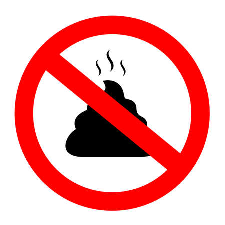 No poop vector sign Illustration