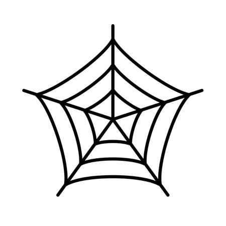 스파이더 웹 실루엣 벡터 아이콘