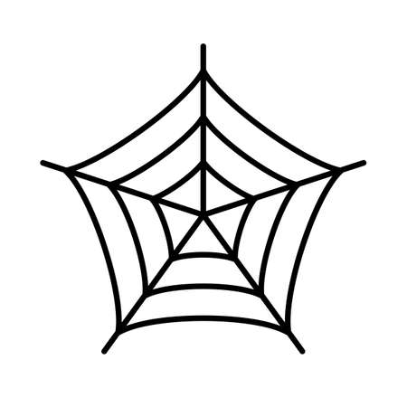 Spinnen web silhouet vector icoon