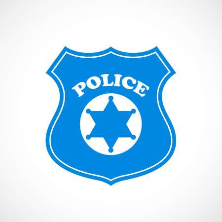 Police cockade vector icon