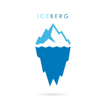 tip of iceberg: Iceberg vector logo Illustration