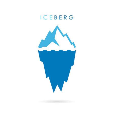 Iceberg vector logo Illustration