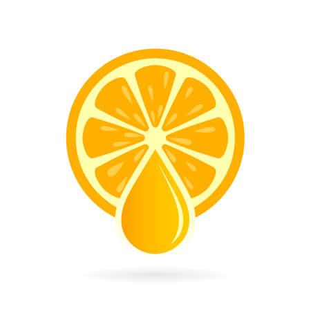 Fresh natural orange juice icon