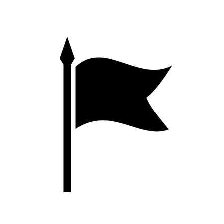 Black flag silhouette vector icon