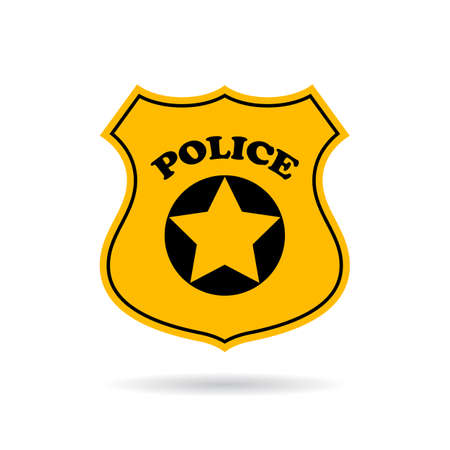 Police service vector sign