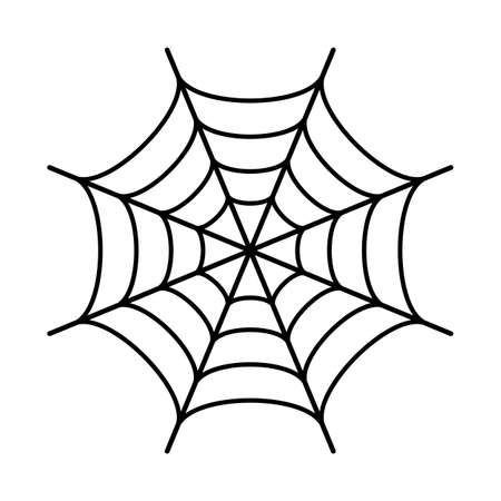 Spider web black silhouette icon 일러스트