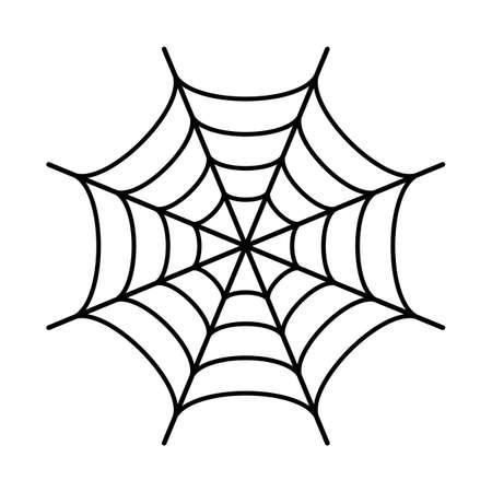 Spider web black silhouette icon Vettoriali