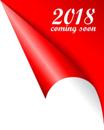 2018 New Year coming soon vector poster Zdjęcie Seryjne - 87354054