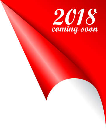 2018 New Year coming soon vector poster