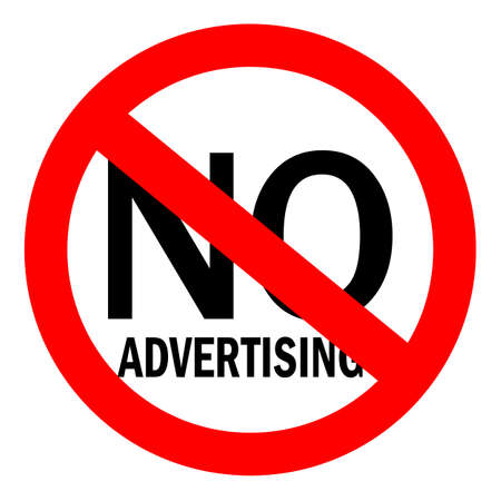 No advertising sign Illustration