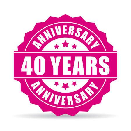 celebrate: 40 years anniversary vector icon