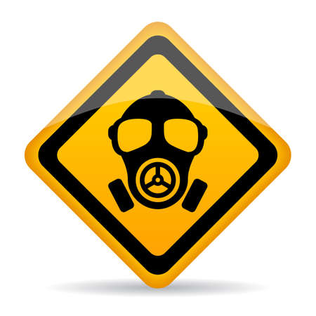 Chemical danger warning sign