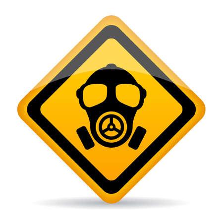 Znak ostrzegawczy niebezpieczeństwo chemiczne