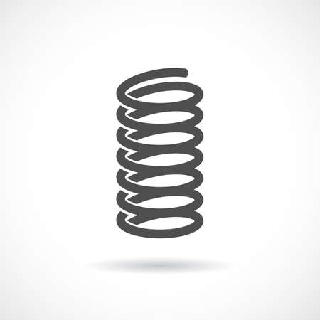 Flexible spring vector icon Illustration