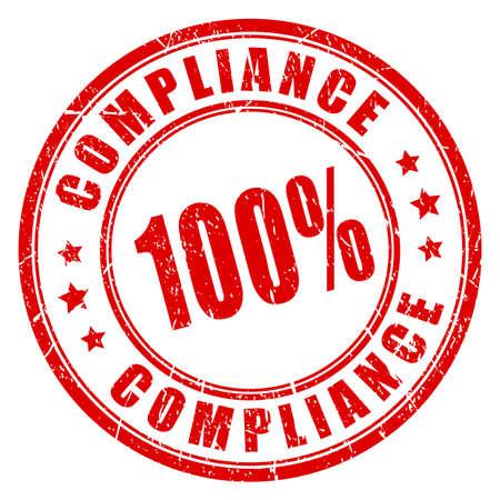 Compliance vector ronde stempel