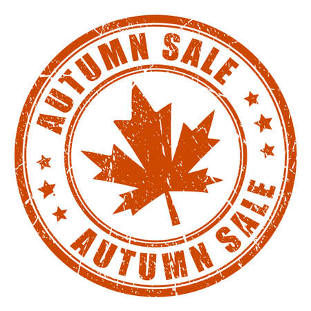 Autumn sale vector rubber stamp Illustration