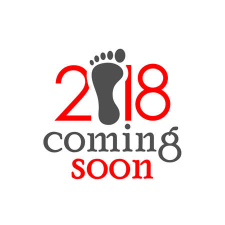 New year 2018 coming soon vector card design