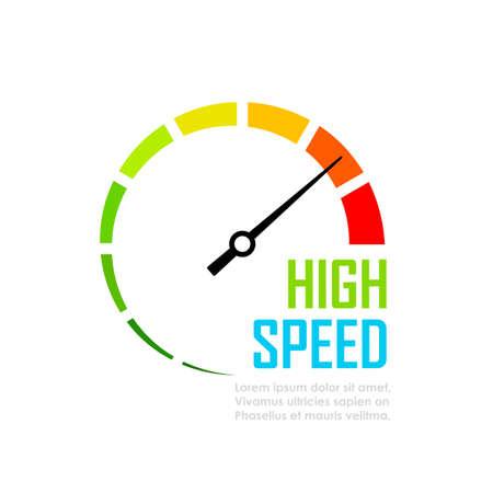 Speed tester dial face vector icon