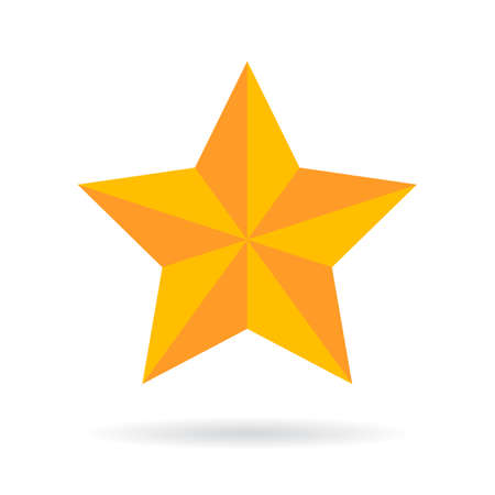 Gold vector star icon Illustration