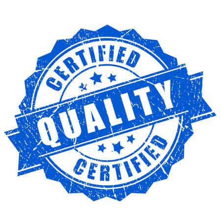 Zertifizierte Qualitätsvektorstempel
