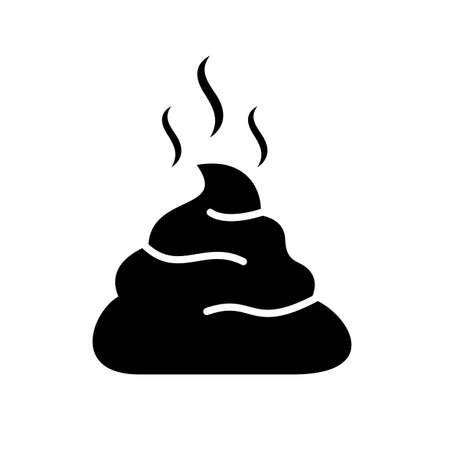 Poop black silhouette vector illustration Illustration
