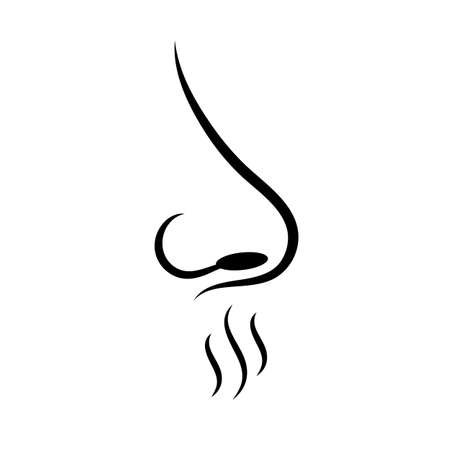 Smell sense vector icon Illustration