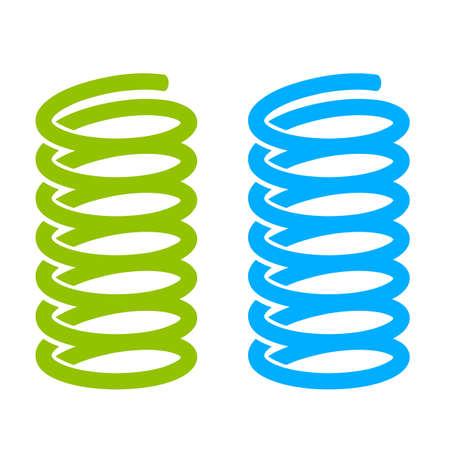 Icono de vector de primavera de acero Foto de archivo - 87705785