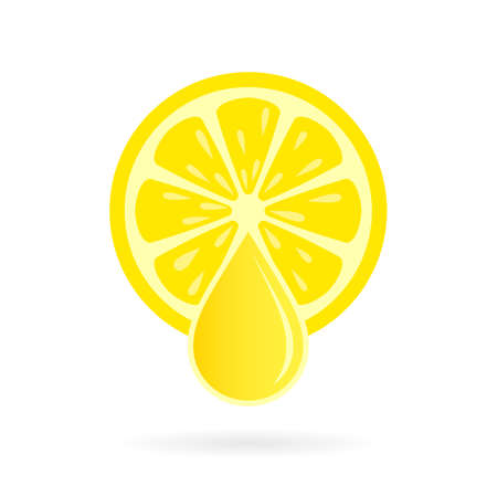 Lemon fresh juice vector icon