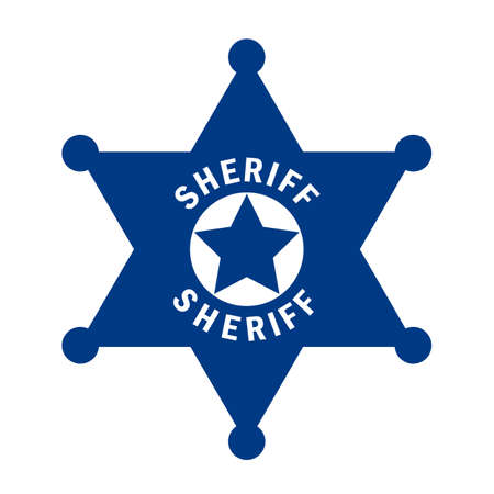Sheriff star vector pictogram
