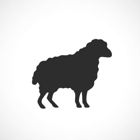 Sheep vector icon Illustration