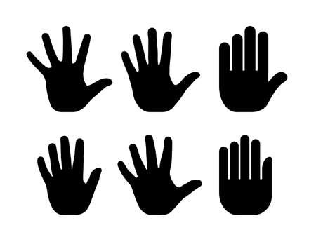 charity collection: Silhouettes of human open palm