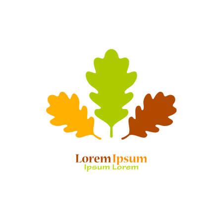 Oak leaves natural logo