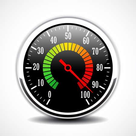 Speed metering dial face vector icon Ilustração Vetorial