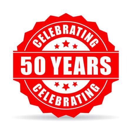50 years celebrating vector star