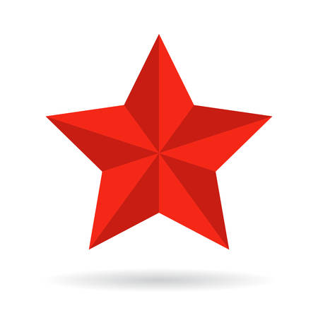 christmas military: Red star vector icon