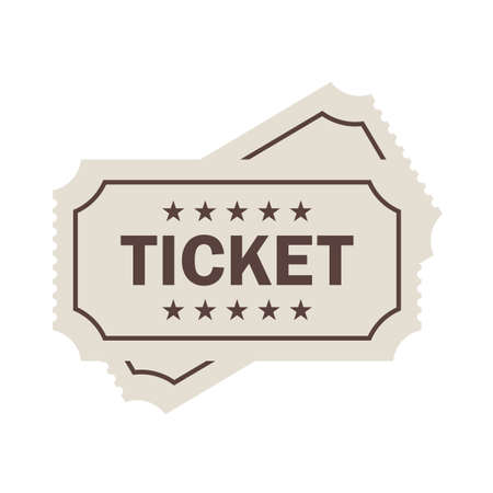 Old ticket vector pictogram
