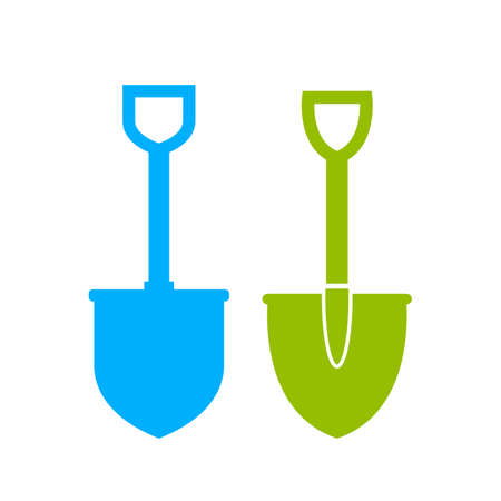 Set of spade vector icons Illustration