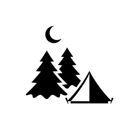 Camping vector pictogram Illustration