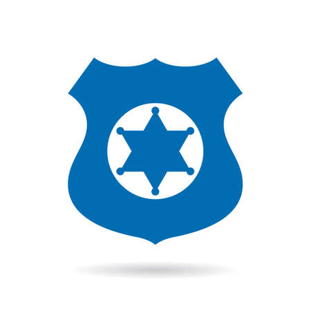 Police authority vector badge Illustration