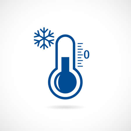 Cold thermometer vector icon